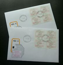 Finland Kokkola & Vantaa 1993 ATM (Frama Label stamp FDC pair) *Rare