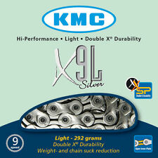 KMC X9L Silver 9 Speed Road or Mountain Bike Chain KMCX9LS