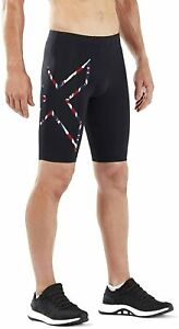 2XU Compression Running Shorts Mens - Black/Union Jack