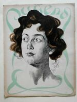 Female Portrait Jugend Magazine 1900 Issue 45 Jugenstil Art Nouveau graphics