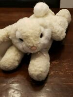 Vintage Rabbit Plush Chrisha Playful Plush White Bunny Stuffed Animal 1988