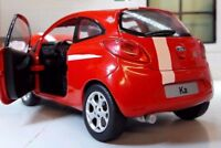 LGB 1:24 Scale Red 2009 Ford Ka Grand Prix 1.2 Diecast Model Car Motormax 73382