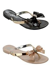 GIRLS JELLY TOE POST SUMMER HOLIDAY BEACH FLIP FLOP SANDALS KIDS UK SIZE 12-4
