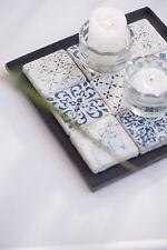 Ib Laursen Tablett Kiste Kerzen Teller Metall 19,5 cm Zink/Grau Quadr. kl. Kante