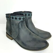 Roxy Womens Size 8 Sita Embroidered Ankle Boots Zip Up Shoes Boots EUC Frozen