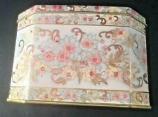 Vintage Meister Tin Container Floral Candy Tea Cookie Biscuit Trinkets Keepsake