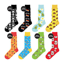 8 Pairs Sock Exchange Unisex Colourful Novelty Cotton Crew Socks