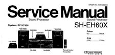NATIONAL SH-EH60X SOUND PROCESSOR SERVICE MANUAL INC SCHEM DIAG BOOK IN ENGLISH