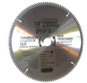 "2 pcs 10"" saw blades 120th carbide teeth Miter Saw Table Saw Wood Cutting Disc"