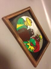 Vintage 1970s Muppets Lithograph Mirror Kermit Framed