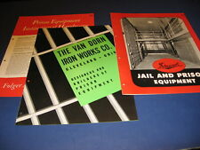1947 Jail Prison Equipment Catalogs Van Dorn Stewart Folger Adam