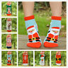 2 Pairs Mixed Colors Fluffy Coral Fleece Warm Sock Christmas Pattern Cosy Sock