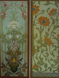 Lithographie Art Nouveau Fleurs Nénuphars Elianthus Album de la Décoration