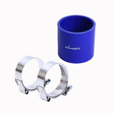 """3"""" TURBO/INTAKE/INTERCOOLER PIPING SILICONE COUPLER HOSE+T-CLAMP BLUE"""