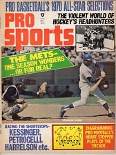 1970 Pro Sports Baseball magazine, Tommie Agee, New York Mets, Johnny Bench ~ Gd