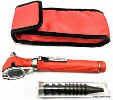 RED MINI Otoscopio Fibra Ottico Otologia Mini Otoscope NATRA