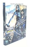 Alita: Battle Angel (Blu-ray+DVD+Digital Code, 2018)  NEW with Slipcover