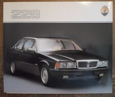 MASERATI BITURBO 228 COUPE orig 1988 UK Mkt Sales Brochure in English
