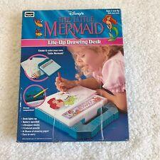 Disney The Little Mermaid Vintage 1991 Lite-Up Drawing Desk