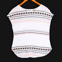 Alice Blue Women's White Stitch Fix Embroidered Top - Size XS