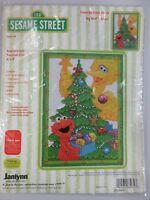 Janlynn Sesame Street Counted Cross Stitch Kit Big Bird & Elmo Christmas #68-74