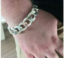 """Men's Solid 925 Sterling Silver Thick & Chunky CUBAN CURB Bracelet 80 Gram 8.5"""""""