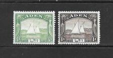 1937 King George VI SG1 & SG3 set of 2 Dhows Mint Hinged ADEN