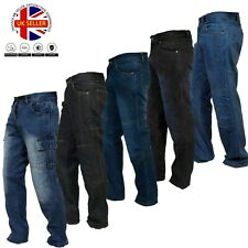 Mens Motorcycle Jeans Motorcycle Denim Cargo Pants with Aramid Protective Lining