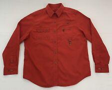 Ralph Lauren Dry Goods Women's Large L Fly Fishing Corduroy Snap Button Shirt