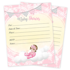 20 Baby Shower Invitations Cards Invites Decorations & Envelopes Baby Girl