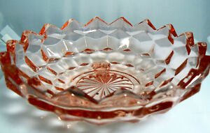 Vintage Depression Pink Glass Candy Dish Footed (W2-4)