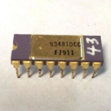 FAIRCHILD 93481DC | VINTAGE IC 16 PIN 4Kx1 RAM MEMORY | GOLD PURPLE CERAMIC 1979