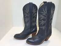 Frye Women's Gray Leather Heel Cowboy Boots Size 7 B