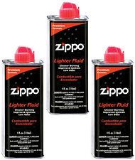 Zippo 4 FL. OZ Lighter Fluid Fuel 3 Cans for Zippo Lighter