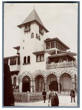 France, Paris, Pavillon de Bosnie  vintage citrate print. Exposition Universelle