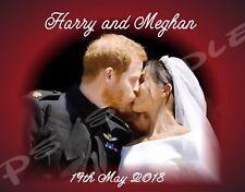 3.5x5 Flexible Fridge Magnet - Harry and Meghan #2 (kiss) - Royal Wedding