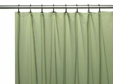 Heavy Duty 10 Gauge Vinyl Shower Curtain Liners - Assorted Colors & Sizes