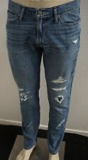 NWT MENS ABERCROMBIE & FITCH MEDIUM WASH RIP SPLATTER LANGDON SLIM JEANS 32x32