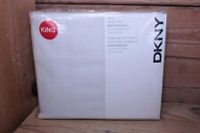 Dkny Soho Solids King Sheet Set 300 Count Off-White New in Pkg Cotton Sateen
