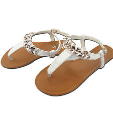 New Ladies Flat Toe Post Shoes Women's Flip Flops Sandals Summer Beach All Sizes