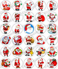 30 x Santa Claus Christmas Xmas Party Edible Rice Wafer Paper Cupcake Toppers