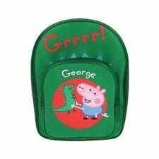 Peppa Pig George & Dinosaur Bag Rucksack Front Pocket Backpack School