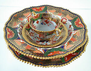 TIFFANY New York bone China tableware 8 person vintage 1880 beautiful Service
