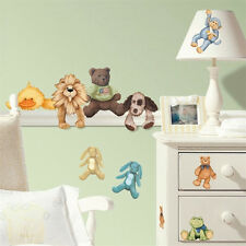 Wall Decal Sticker Peel & Stick CUDDLE BUDDIES Removable & Reusable SET of 23
