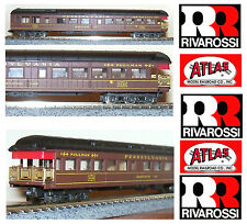 RIVAROSSI ATLAS 2624 CARROZZA PANORAMICA PENNSYLVANIA Rail Road USA OVP SCALA-N