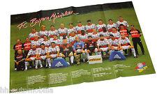0798OPE Opel Beilage Magazin Start 1998 Poster FC Bayern München DFB Pokalsieg