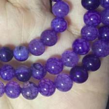 "Beautiful 8mm natural purple jade beads gemstone loose beads 15 ""AAA+++"
