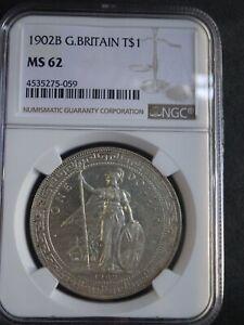 Great Britain, British Trade Dollar 1902B, NGC MS62