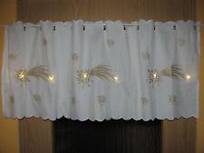 LED Scheibengardine-Weihnachten-Sterne-Bistrogardine-ca.115x45cm-Neu