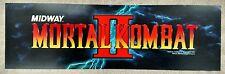 "Vintage ""Mortal Kombat II"" Arcade Video Game Marquee by Midway"
